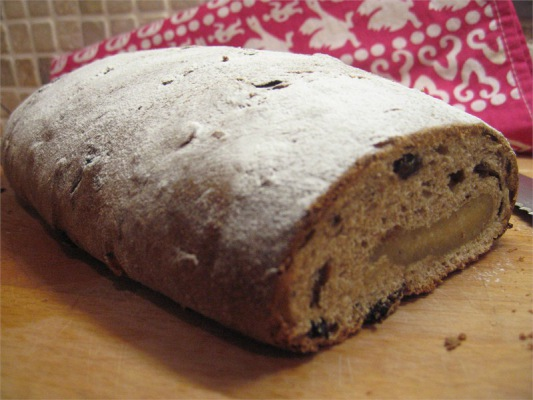 Stollen with Almond Paste (Marzipan)