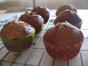 Christmas Pudding Muffins