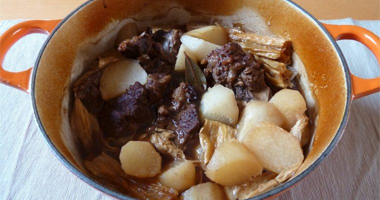 Chinese Braised Beef with Mooli and Beancurd Sheets