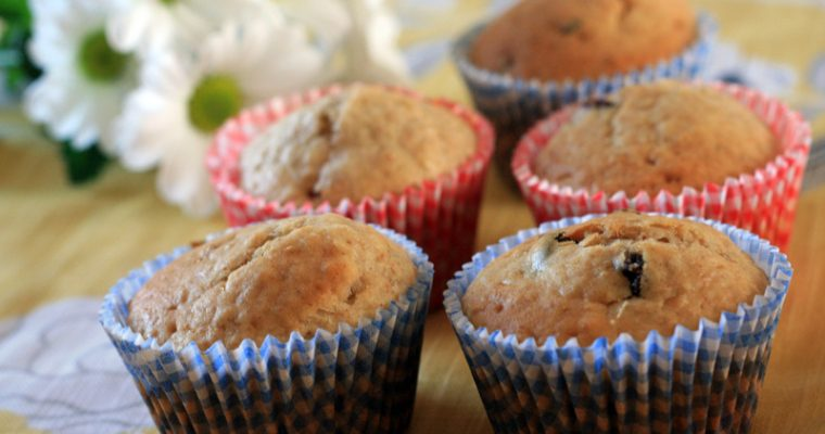 Breakfast muffins with Apricot, Prunes and Raisins