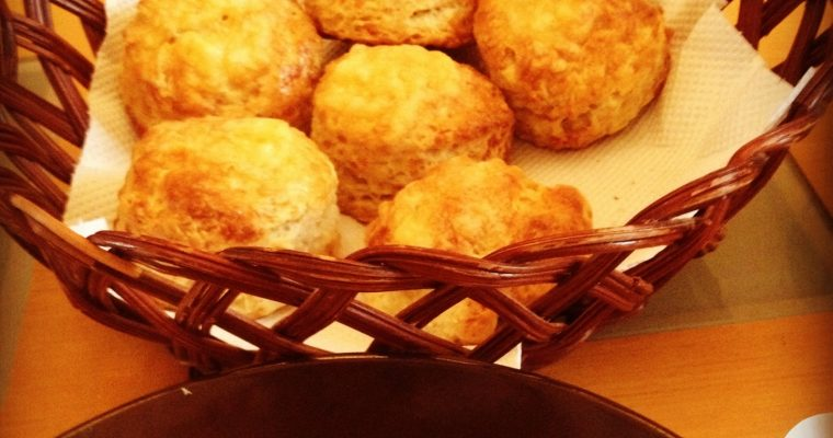 Fridge soup with Cheese scones