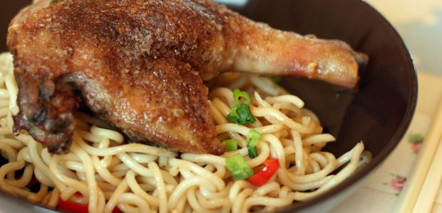 Five Spiced Duck with Chilli Noodles