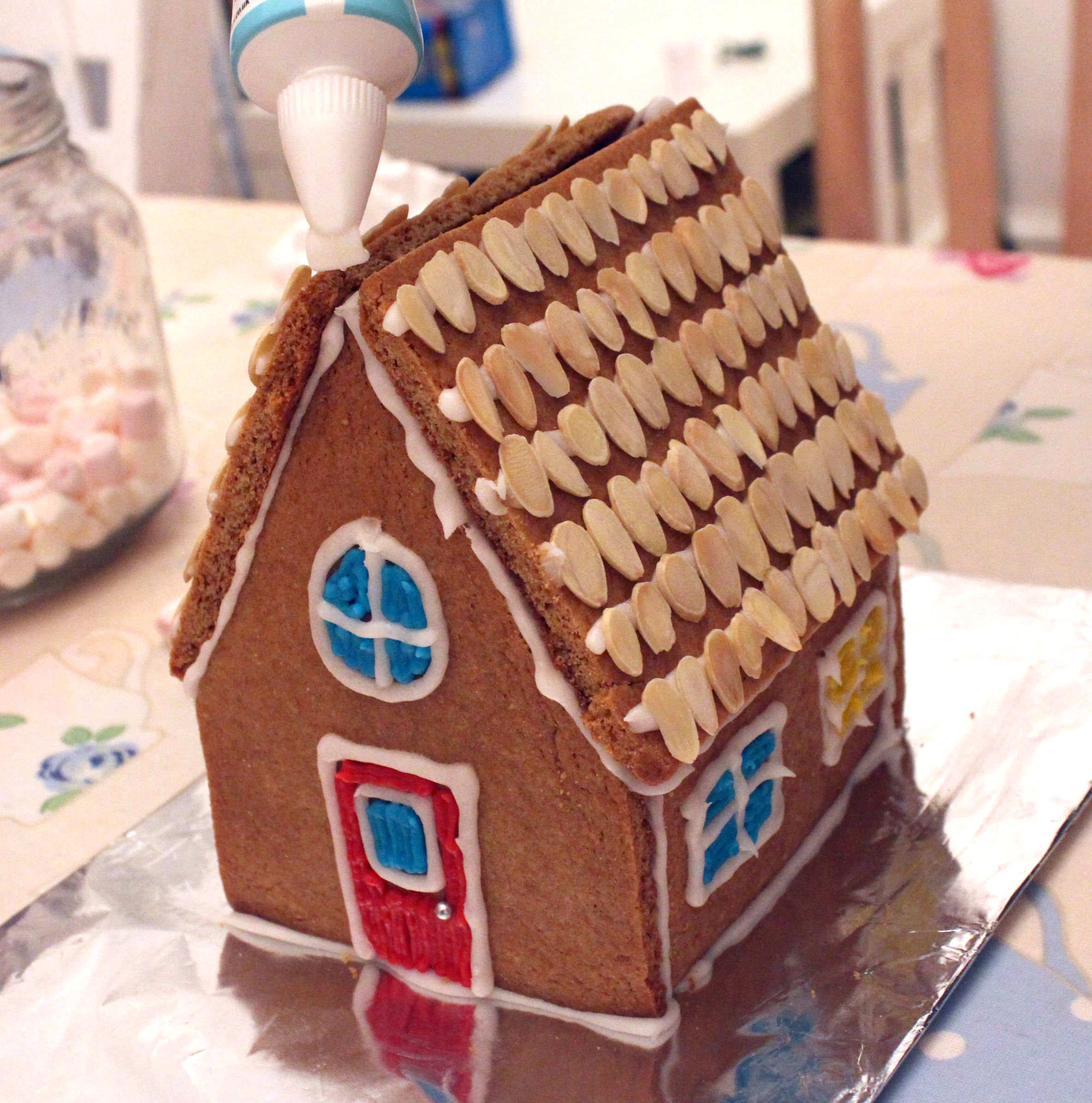 Homemade diy gingerbread house kit annie ko this will be a really amazing gift for all ages and we had fun making the house panels the box and eventually the house solutioingenieria Choice Image